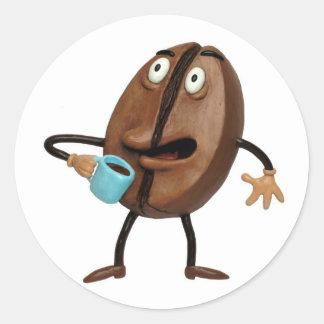 Coffee Buzz Classic Round Sticker