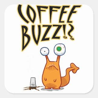 Coffee BUZZ!? Square Sticker
