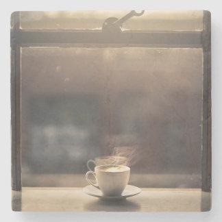 Coffee by the Window Stone Coaster