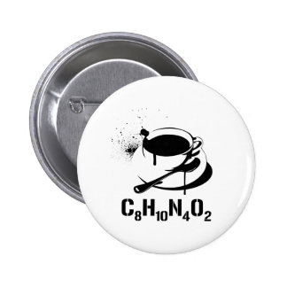 Coffee C8H10N4O2 2 Inch Round Button