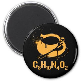 Coffee C8H10N4O2 2 Inch Round Magnet