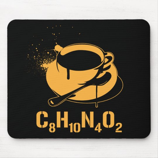 Coffee C8H10N4O2 Mouse Pad