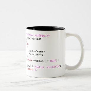 Coffee c Programming Two-Tone Coffee Mug