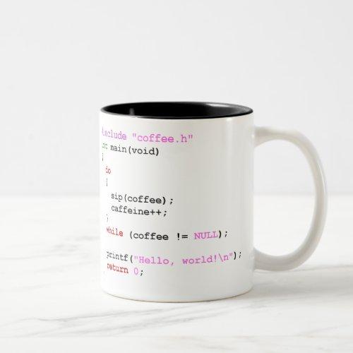 Coffeec Programming Two_Tone Coffee Mug