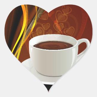 Coffee Cafe Art Heart Sticker