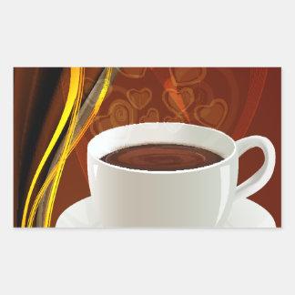 Coffee Cafe Art Rectangular Sticker