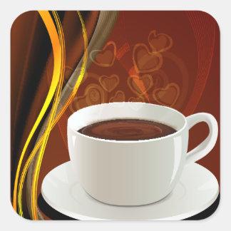 Coffee Cafe Art Square Sticker
