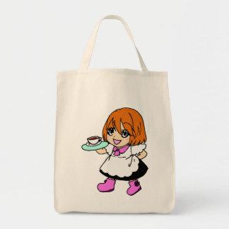 Coffee , cafe , girl , maid tote bag