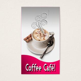 """Coffee Café"" Gourmet Coffee, Capuccino, Espresso Business Card"
