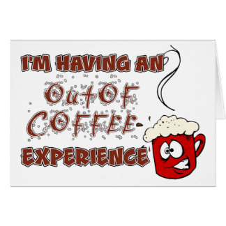 Coffee / Caffeine Addiction and Withdrawal Stationery Note Card