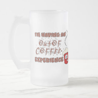 Coffee / Caffeine Addiction and Withdrawal 16 Oz Frosted Glass Beer Mug