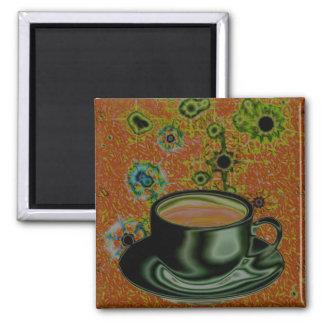 Coffee / Caffeine / Java Junky 2 Inch Square Magnet