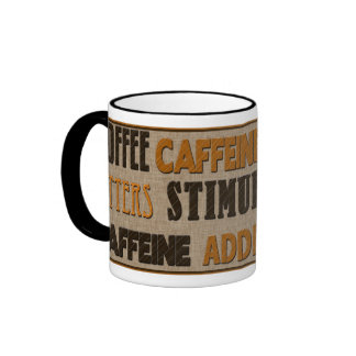 COFFEE - CAFFEINE MUG - TEXT