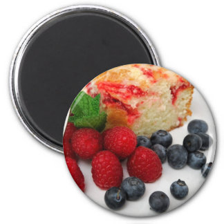 Coffee Cake And Berries Magnet