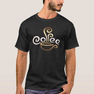 Coffee Calligraphy Design T-Shirt