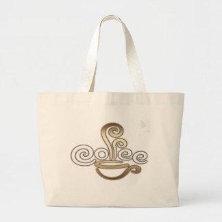 Coffee Calligraphy Design Tote Bag