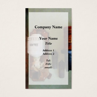 Coffee Can and Coffee Grinder Business Card