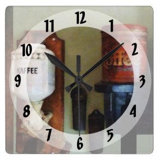 Coffee Can and Coffee Grinder Clocks