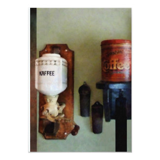 Coffee Can and Coffee Grinder 5x7 Paper Invitation Card