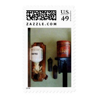 Coffee Can and Coffee Grinder Postage