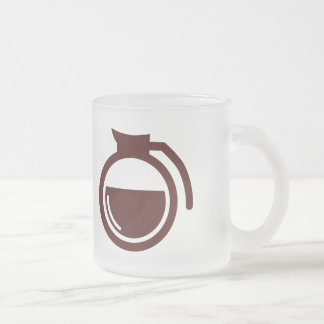 Coffee Can Frosted Glass Coffee Mug