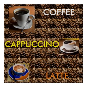 Coffee Cappuccino Latte Poster Menu by CREATIVEforBUSINESS at Zazzle