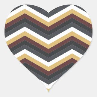 coffee caramel chevron pattern heart sticker