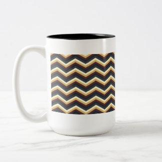 Coffee Caramel Chevron Pattern Coffee Mugs