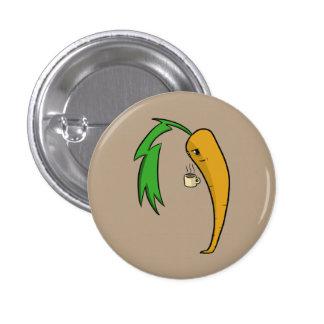 Coffee Carrot Pinback Button