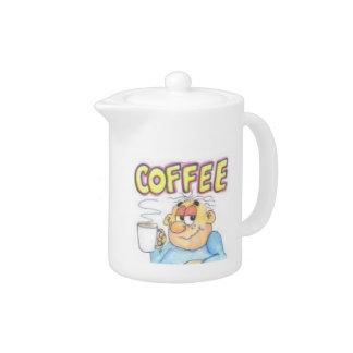 Coffee cartoon on pot