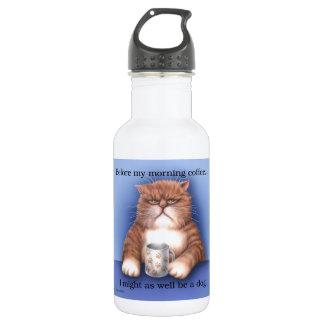 Coffee Cat 18oz Water Bottle