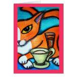 Coffee Cat and Mug Card