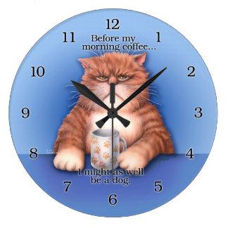 Coffee Cat Clock