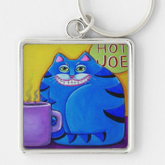 Coffee Cat Keychain