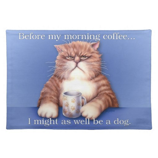 Coffee Cat placemat