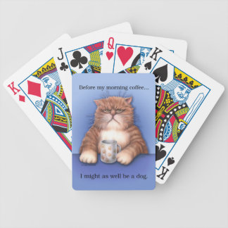 Coffee Cat playing cards