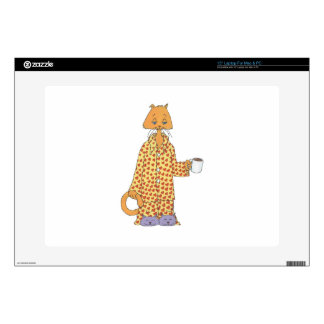"""Coffee Cat Decals For 15"""" Laptops"""
