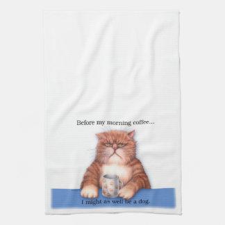 Coffee Cat Towel