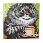 Coffee Cat (Vintage Image) Ceramic Tiles