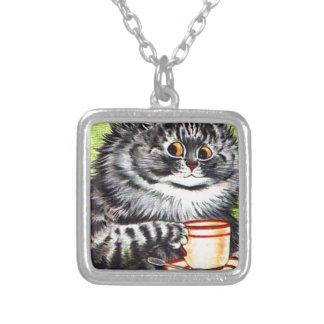 Coffee Cat (Vintage Image) Necklace