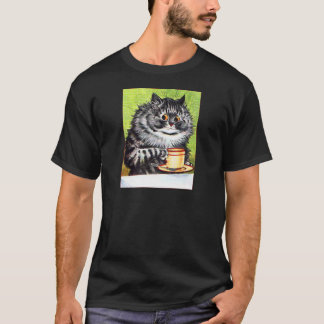 Coffee Cat (Vintage Image) T-Shirt