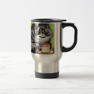 Coffee Cat (Vintage Image) Travel Mug