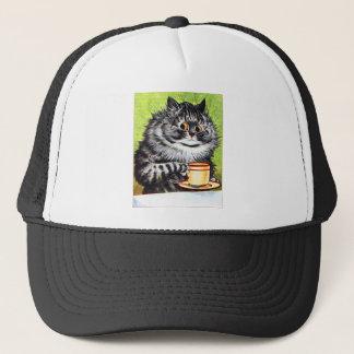 Coffee Cat (Vintage Image) Trucker Hat