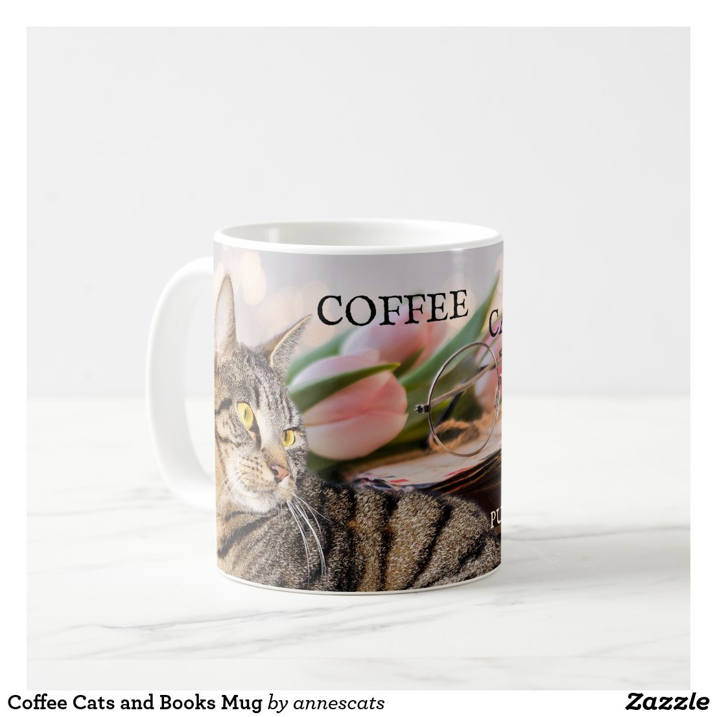 Coffee Cats and Books Mug