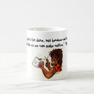 Coffee Caveman Classic White Coffee Mug