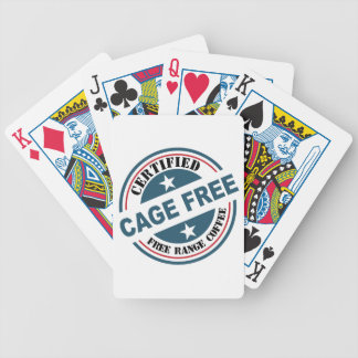 Coffee Certified Free Range and Cage Free fun Bicycle Playing Cards