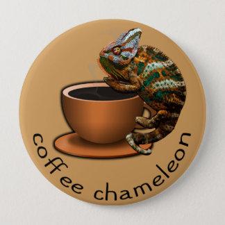 Coffee Chameleon Pinback Button