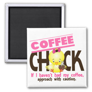 Coffee Chick 1 2 Inch Square Magnet