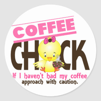 Coffee Chick 1 Sticker