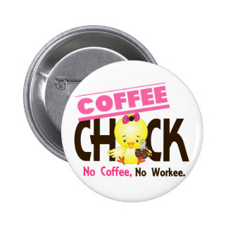 Coffee Chick 2 Pinback Buttons